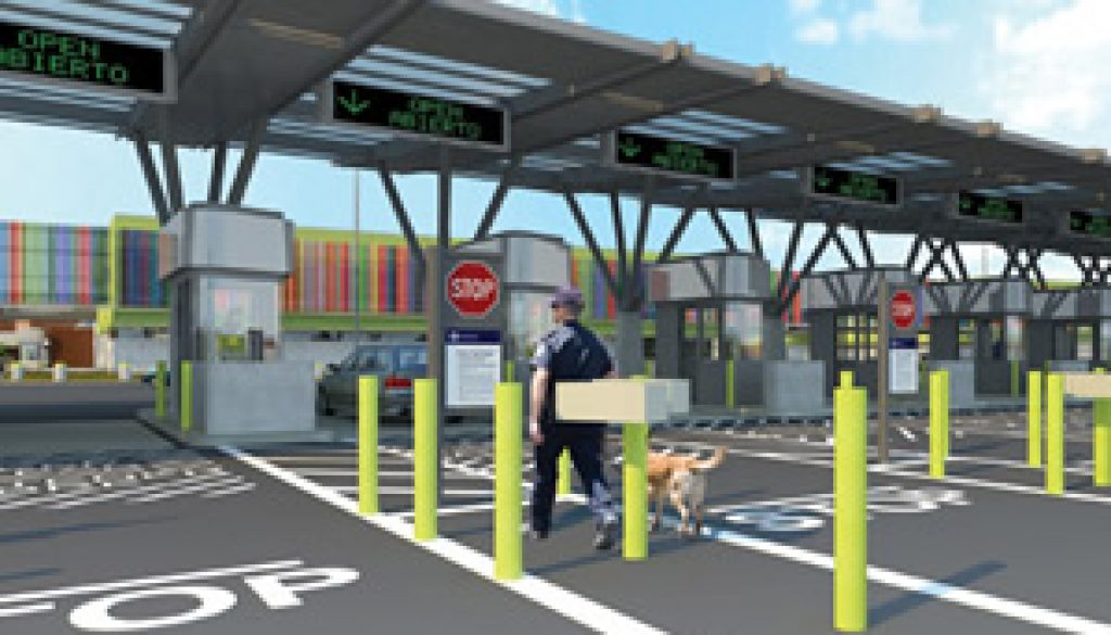 Commercial pre-clearance facilities on the Otay Mesa Port of Entry